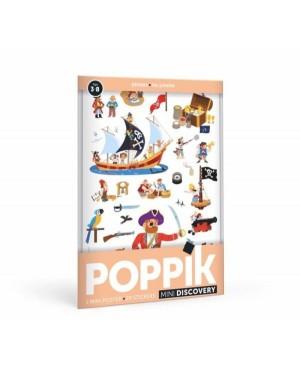 Mini Poster Les Pirates (3-8 ans) 30 stickers Poppik