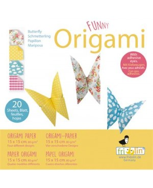 Funny origami Papillons Dam