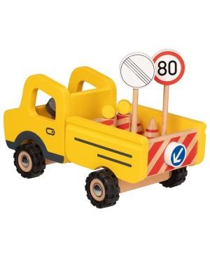 Camion avec panneaux