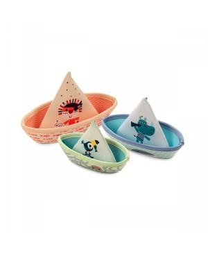 3 bateaux Jungle Lilliputiens
