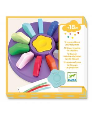12 crayons fleurs pour les petits Djeco