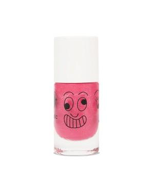Vernis enfant base eau - Kitty - rose bonbon paillettes Nailmatic
