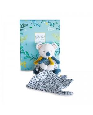 Yoca Le Koala-Pantin avec doudou